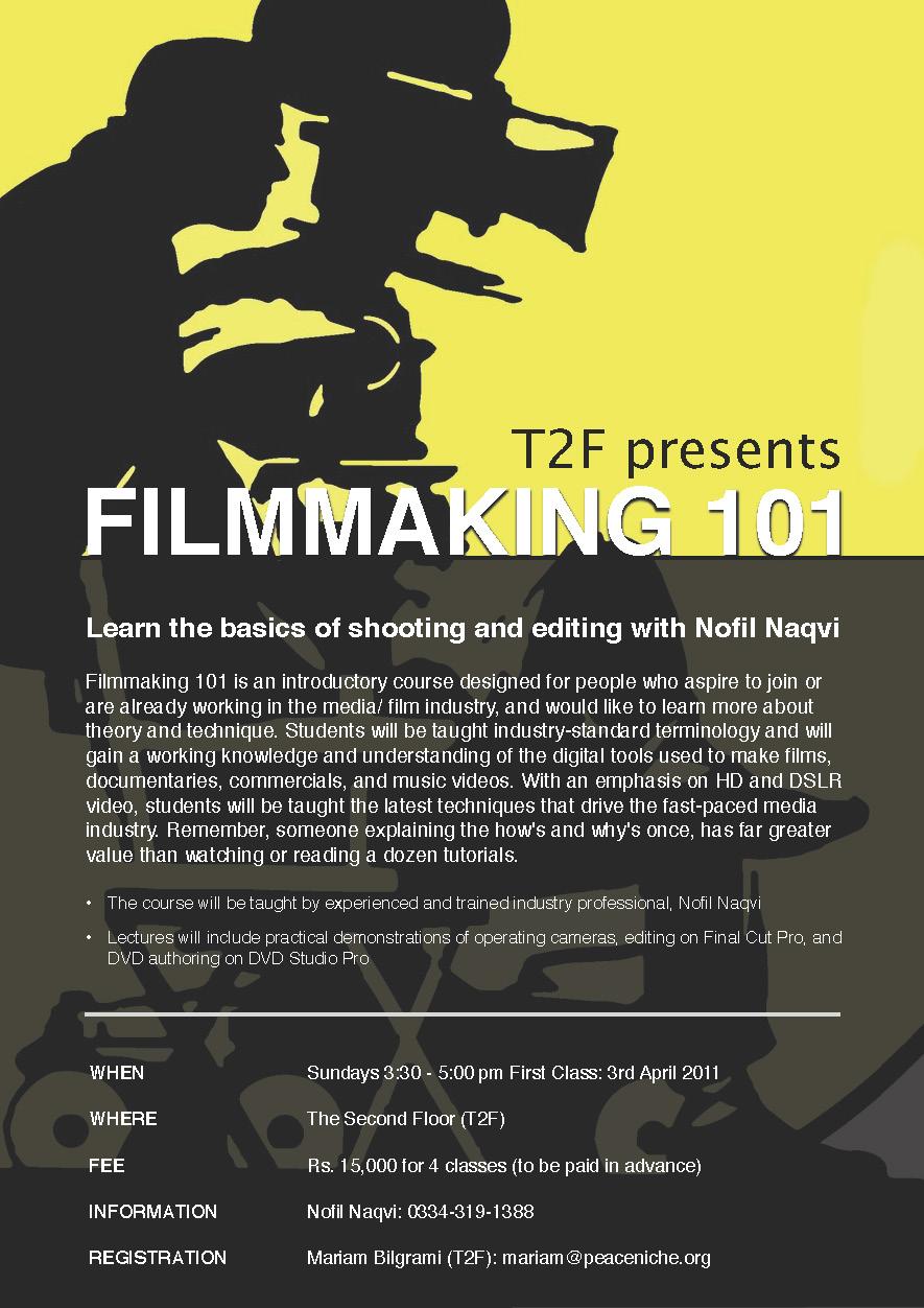 Filmmaking Workshop At T2f Nofil Naqvi