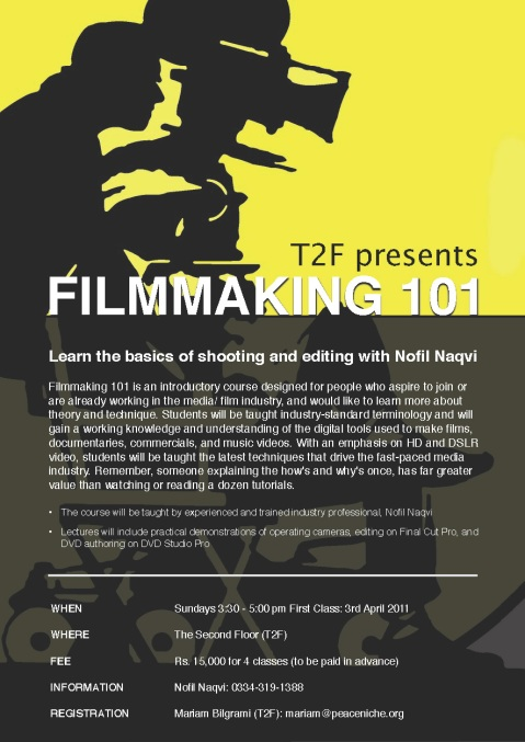 Filmmaking 101 at T2F